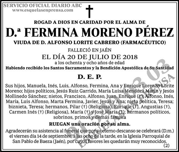 Fermina Moreno Pérez